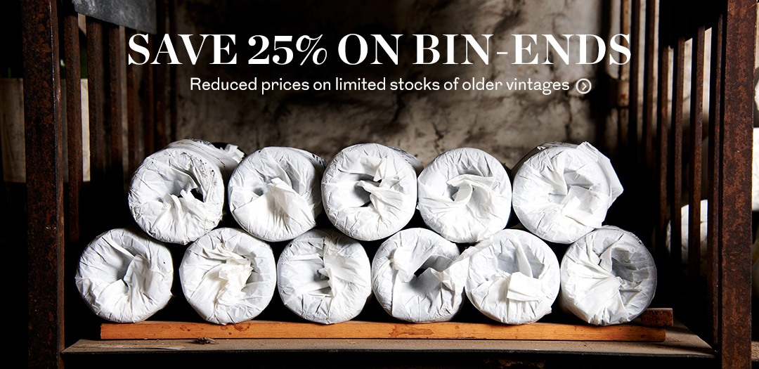 Bin End Wines 25 percent savings