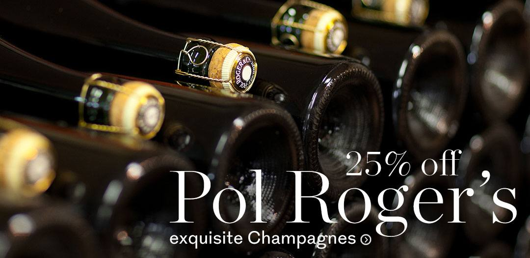 25% off a selection of Pol Roger champagne available at Berry Bros. & Rudd.