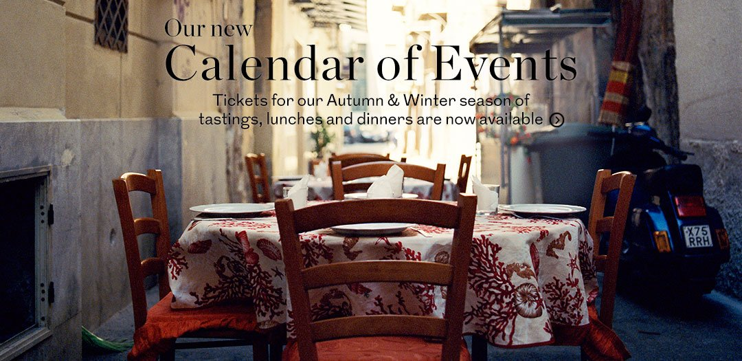 Our new calendar of events at Berry Bros. & Rudd