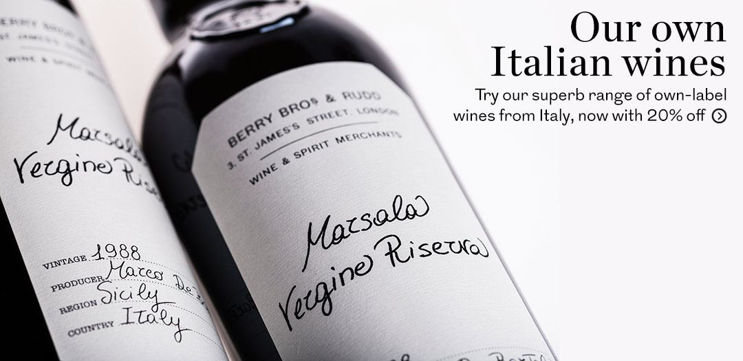 Our Own range Italian wines available at Berry Bros. & Rudd
