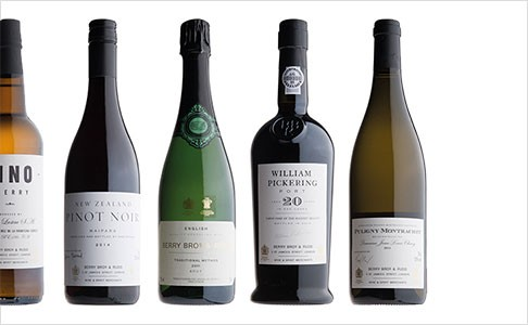 A selection of our Award Winning Wine available from Berry Bros. & Rudd