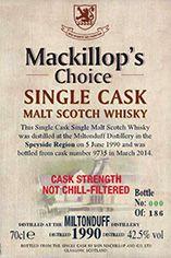 1990 Miltonduff, Speyside, Single Malt Scotch Whisky (42.5%)
