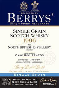 1996 Berrys' Own North British, Grain Whisky, (56.8%)