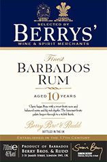 Berrys' Own Selection Barbados Rum, 10-year-old, 46.0%