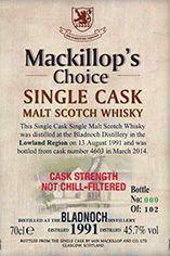 1991 Bladnoch, Lowland, Single Malt Scotch Whisky, 45.7%