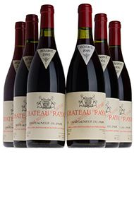 Château Rayas, Assortment Case 1, 2bts of each: 89,95,99,04,06,08