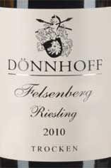 2010 Schlossböckelheimer Felsenberg Dry, H. Dönnhoff, Nahe