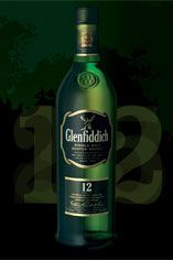Glenfiddich 12-year-old, Single Malt Scotch Whisky (40%)