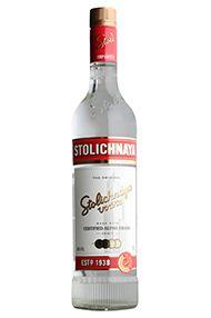 Stolichnaya Red Label, Premium Russian Vodka (40%)