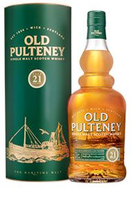 Old Pulteney, 21-year-old, Higlands Single Malt Scotch Whisky, (46.0%)