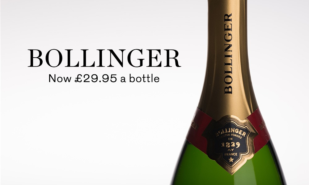 save 25pc on Bollinger champagne