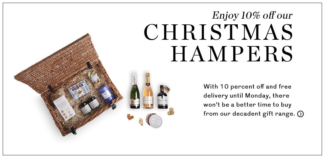 10% off chrsitmas hampers
