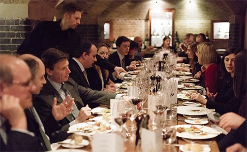 Lunches and Dinners in our London Cellars